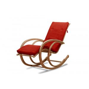 Кресло AnderSon шезлонг красное