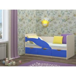 Детская кровать Дельфин 1 синий