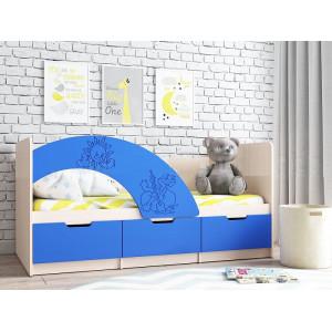 Детская кровать Юниор-3 синий