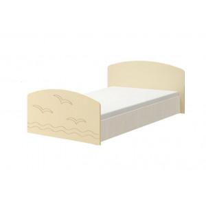 Детская кровать Юниор-2 ванильный матовый