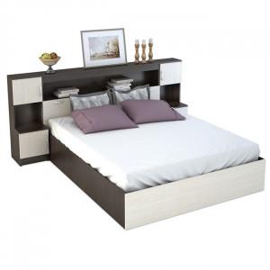 Двуспальная кровать Бася с надстройкой 160х200 см