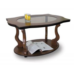 Журнальный столик Берже 3С (на колесах) (Cреднекоричневый)