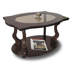 Журнальный столик Берже 3С (на колесах) (Темнокоричневый)