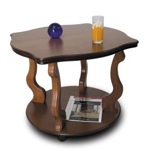 Журнальный столик Берже 4 (на колесах) (Cреднекоричневый)