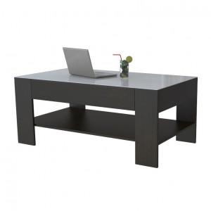 Журнальный столик Beauty Style 26 (Венге/Белое стекло)