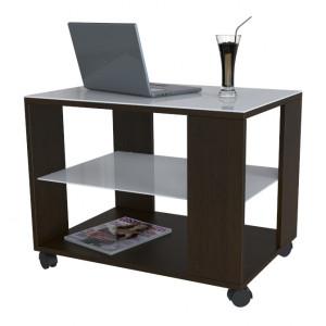 Журнальный столик Beauty Style 5 (Венге/Белое стекло)