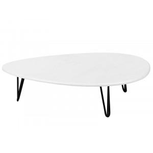Журнальный столик Дадли (Белый бетон)