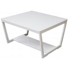 Журнальный столик BeautyStyle 1 (Белый глянец / стекло белое)