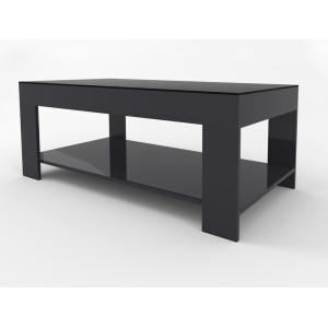 Журнальный столик Beauty Style 26 (Графит / черное стекло)