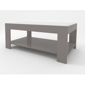 Журнальный столик Beauty Style 26 (Серый / белое стекло)