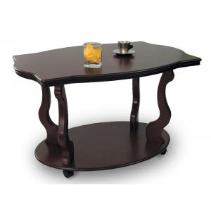 Журнальный столик Берже 3 (на колесах) (Темно-коричневый)