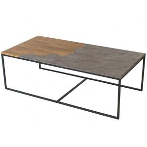 Журнальный столик Китч (Дуб американский / серый бетон)