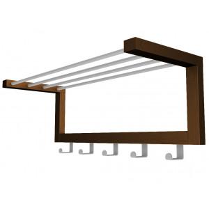 Настенная вешалка Дольче (Металлик / темно - коричневый)