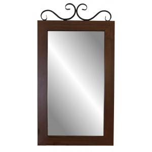 Зеркало навесное Сартон 51 (Черный/Средне-коричневый)