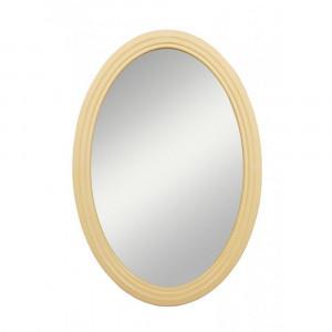 Бежевое овальное зеркало Leontina