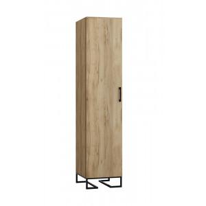 Шкаф 1-створчатый с полками Loft Дуб Натур
