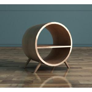 Тумба в Скандинавском стиле Ellipse круглая с полкой