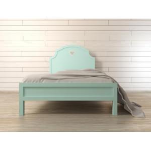 Кровать в стиле Прованс Adelina в мятном цвете