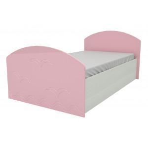 Детская кровать Юниор-2 розовый