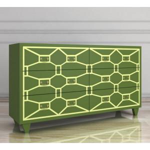 Зеленый комод Emerald 6 ящиков