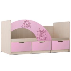 Детская кровать Юниор-3 Розовый
