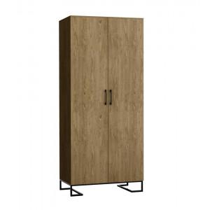 Шкаф 2-створчатый без зеркал Loft Дуб Табак