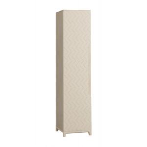 Шкаф 1-створчатый с полками Сканди Жемчужно-белый