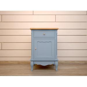 Прикроватная тумба Leontina Blue с ящиком и дверцей