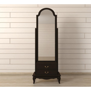 Зеркало напольное Leontina Black 2 ящика