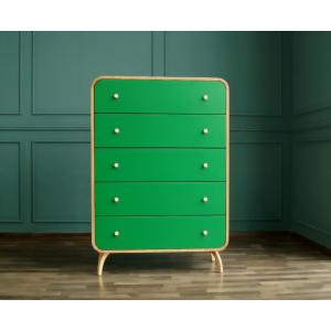 Комод Ellipse с пятью ящиками зеленые фасады