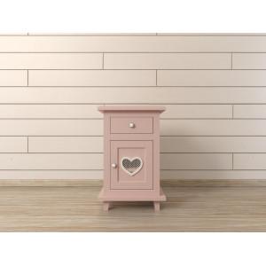 Тумба прикроватная Adelina в розовом цвете