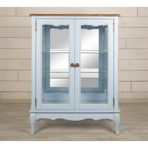Шкаф Leontina Blue для посуды двустворчатый