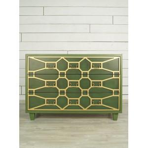 Зеленый комод Emerald 3 ящика