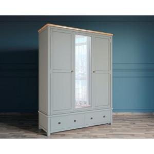 Шкаф двустворчатый широкий Jules Verne серый