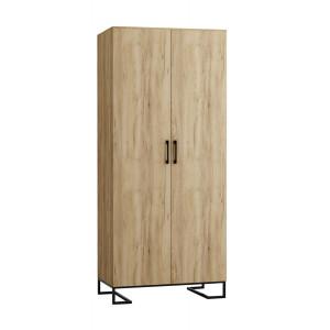 Шкаф 2-створчатый без зеркал Loft Дуб Натур