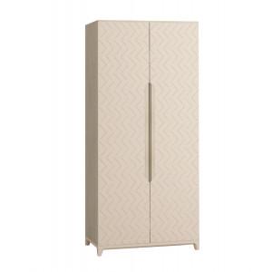 Шкаф 2-х створчатый Сканди Жемчужно-белый