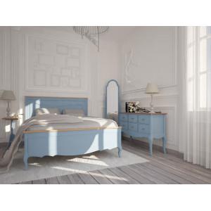 Комплект спальни Leontina в голубом цвете