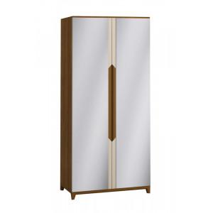 Шкаф 2-х створчатый с зеркалами Сканди Бежевый
