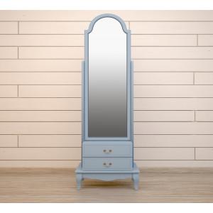 Зеркало напольное Leontina Blue 2 ящика
