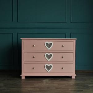 Комод Adelina 3 ящика в розовом цвете
