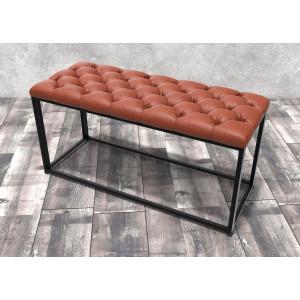 Банкетка Айсберг Лофт 01 Черный/коричневый
