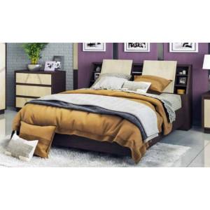 Кровать Нирвана с полками в изголовье КМК 0555.9