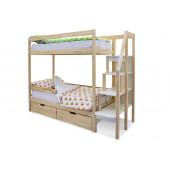 Двухъярусная кровать Svogen натура