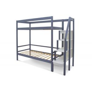 Двухъярусная кровать Svogen графит