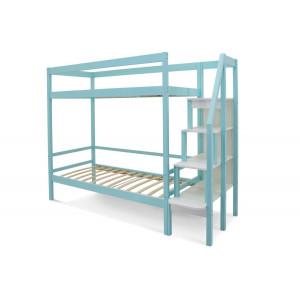 Двухъярусная кровать Svogen мятный