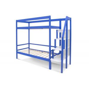 Двухъярусная кровать Svogen синий