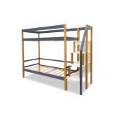 Двухъярусная кровать Svogen дерево-графит