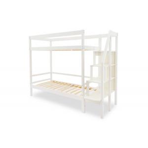 Двухъярусная кровать Svogen белый