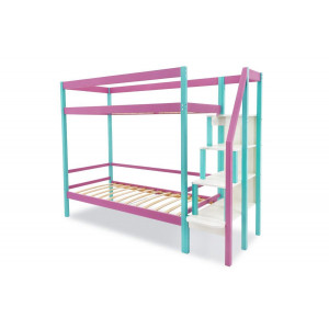 Двухъярусная кровать Svogen мятный-лаванда