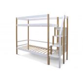 Двухъярусная кровать Svogen дерево-белый